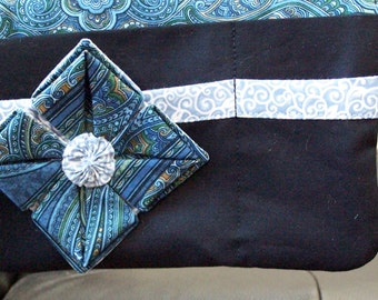 Walker Pouch,  Wheelchair Arm Rest Pouch, Bed Rail Pouch, Gift for Grandmom, Gift for Grandpop, Custom Made with Optional Flower Long WP507
