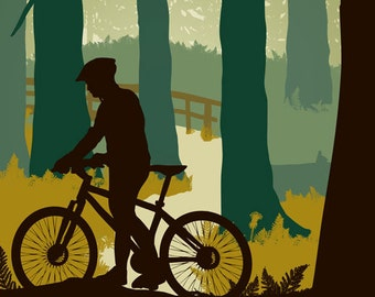 McKensie River Pass Mountain Bike Print