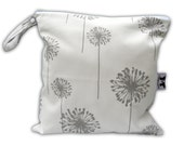 HEAT SEALED and BEST Selling Wet Bags here -Small Wet Bag in Dusty Dandelion with Snap Handle