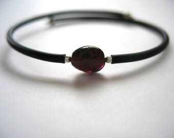 Garnet Bracelet, Garnet Stone Bracelet , Handmade Gemstone Cuff Bracelet