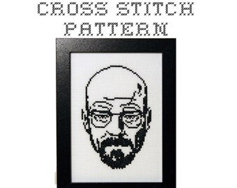 DIY Walter White - Breaking Bad - .pdf Original Cross Stitch Pattern - Instant Download