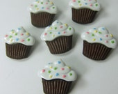Chocolate Cupcakes with Sprinkles Novelty Buttons