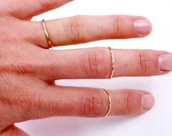 Single 14k Gold Filled Stacking Ring