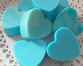 Love The   BLUES--Guest Heart Soaps-- Love Soaps--6---Three BUTTER Blend-Fresh Picked BERRY Scent