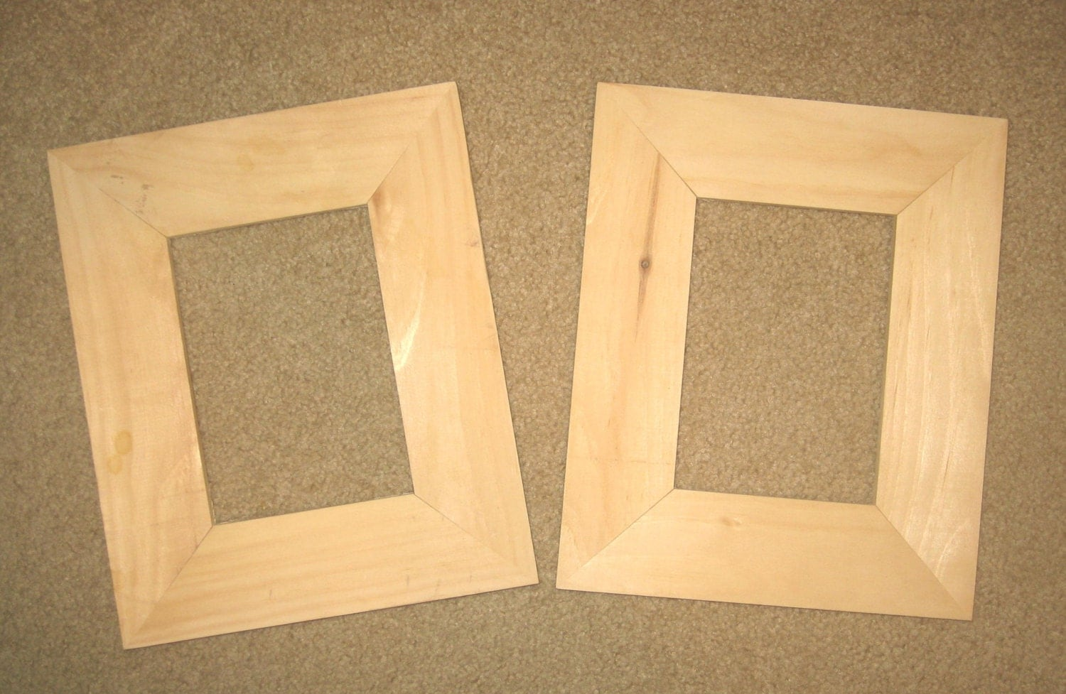 Picture Frames 2 Unfinished 5x7 Wood My No 5813g