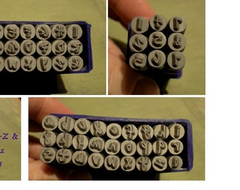 FuLL SeT JENNA Sue - 3mm uppercase, 2.5mm lowercase letters and 3mm numbers - includes how to stamp metal tutorial