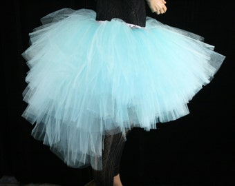 Ultra Aqua Ring Master tutu skirt huge poofy adult petticoat carnival dance bridal ice queen  -- You Choose Size -- Sisters of the Moon