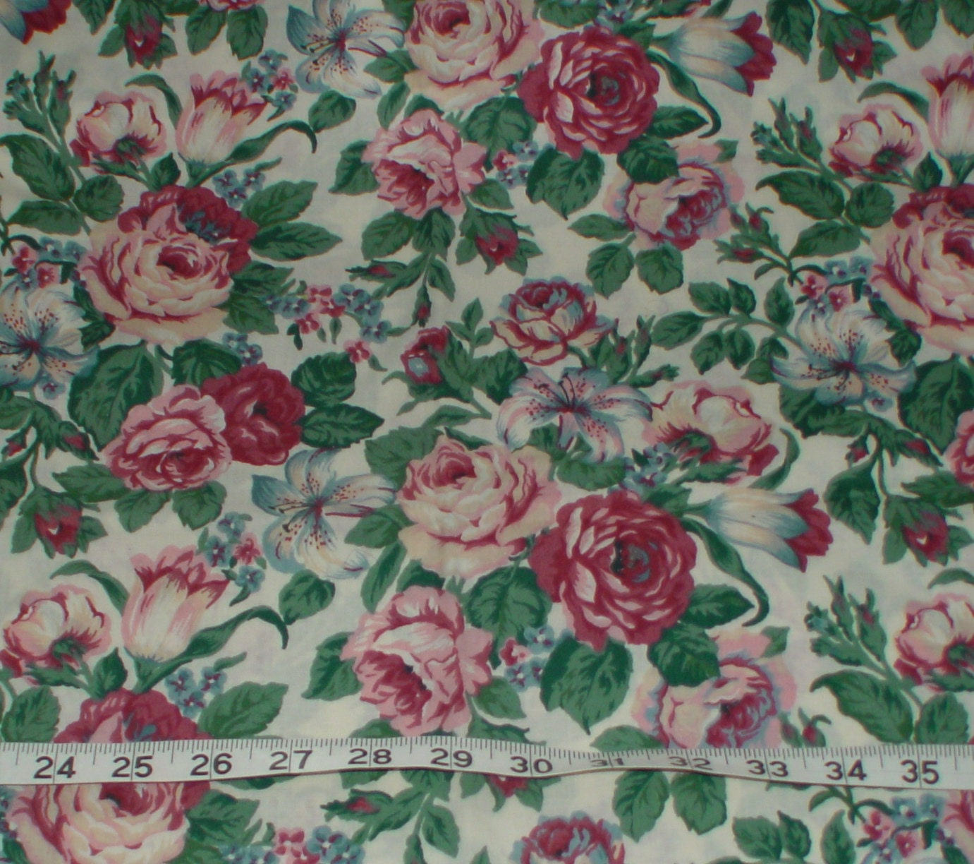 Floral Flower Home Decorator Fabric 2 pieces
