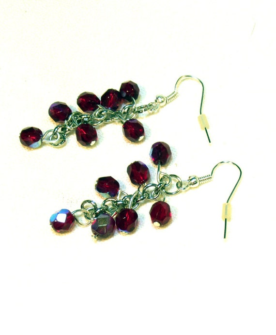 Garnet Earrings - January birthstone