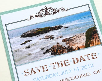 Destination Wedding Save the Date - California Coast
