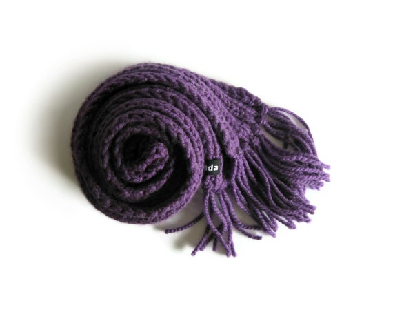 Purple Scarf Knitted