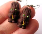 Chocolate Easter Bunny EARRINGS