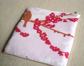 Sparrows on Pink - Apple Magic Trackpad Sleeve, Cover, Bag - Padded and Zipper Closure