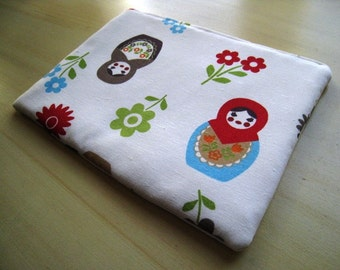 """Matryoshka Doll  - Macbook 13"""" Air or Macbook 13 Inch Pro - Laptop Case - Laptop Sleeve - Cover - Bag - Padded and Zipper Closure"""