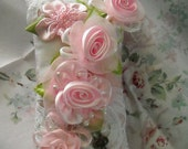 Elegant Cottage Chic Sachet Dripping With Roses