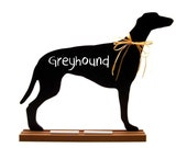 Greyhound, Basset Hound, Bloodhound or Afghan Hound SHAPED CHALKBOARD - A Pet Lover Favorite