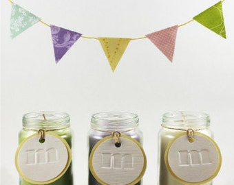 Baby Shower Favors - 25 Soy Wax Candles in Reused Baby Food Jars