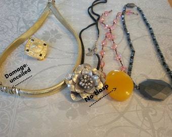 Destash - Necklaces to Take Apart - Recycle and Upcyle- Magnetic Beads