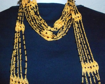 Crochet Skinny Scarf Necklace Only New Crochet Patterns
