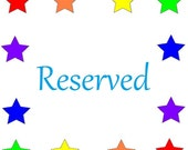 Reserved for Josephine
