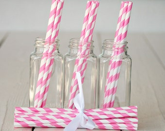 Stripe Straws PINK - Great Parties Supplies from Mary Had a Little Party