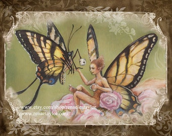 Butterfly Tea, Post Card by Renae Taylor
