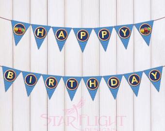 Chuggington Birthday Banner - Printable PDF - Instant Download