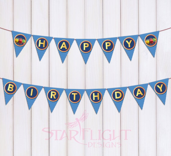 Chuggington Birthday Banner Printable PDF Instant By