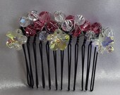 Bridal Hair Wedding Hair Swarovski Beaded Hair Comb Crystal Fascinator