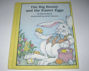 The Big Bunny and the Easter Eggs Vintage 1980s Children's Book by Weekly Reader