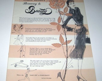 Vintage 1960s Joseph Weider's Thruway to Beauty Self Improvement Course Booklet Lesson 2