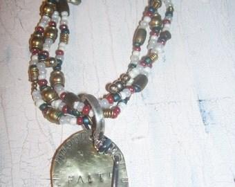 Multi Strand Faith Necklace