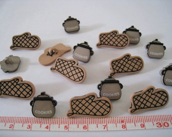 25 pcs of Cooking Pot and Mitten Button LAST SET