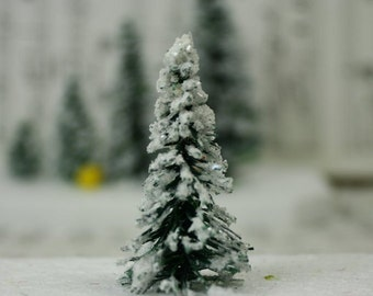 "Snowy Evergreen Tree - 2"" - Set of 4 - 218-0402"
