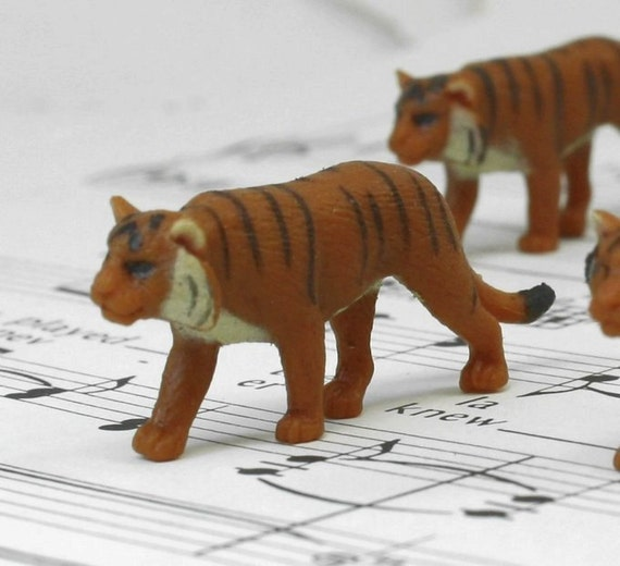 Set Of 4 Miniature Tigers