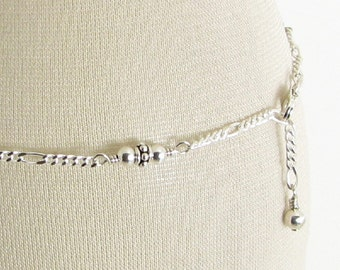 Bali Style Sterling Silver Chain Anklet