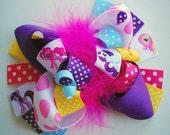 boutique FUNKY fun CUTE PONIES hair bow clip