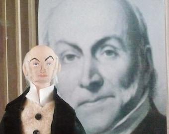 John Quincy Adams Doll Miniature Presidential Art Collectible