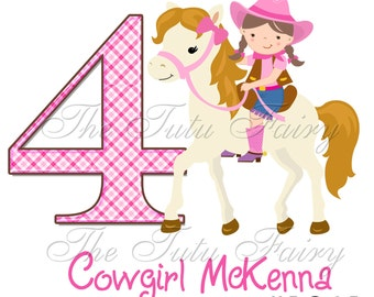 Cowgirl 1 2 3 4 5 6 7 Birthday shirt 1st 2nd 3rd first 4th 5th t-shirt 6th 7 2t 3t 4t 5t 5/6 7 12 18 months girl