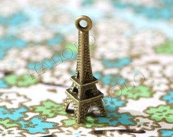 Sale - 20pcs antique bronze eiffel tower pendant 23mm (BN049)