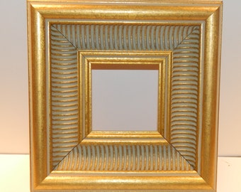 """Wide Ornate Gold Frame - 3 x 3"""" for Painting - FREE Ship"""
