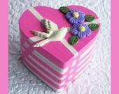 Heart Trinket Box Fuchsia