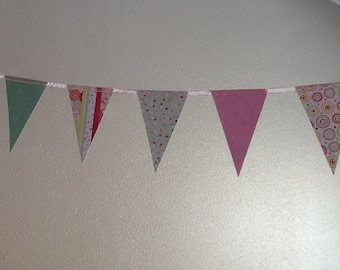 Paper Pennant Banner Birthday Party Garland