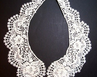 Ivory Venice Lace Applique Collar Set of 2 Pieces, Lace Collar