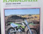 Clymer Kawasaki KX250 1992 1998 Motorcycle Service Repair Manual
