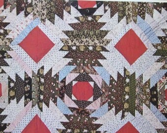 Vintage Traditional Patchwork Quilt Pattern Book