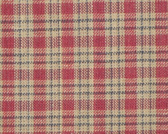Homespun Material Country Cupboard Wine Mini Plaid 1 Yard
