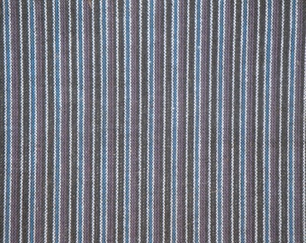 Homespun Fabric | Stripe Fabric | Purple Ticking Stripe Fabric | 1 Yard