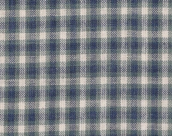 Homespun Material | Homespun Fabric | Plaid Fabric | Medium Hunter Plaid 1 Yard - Destash