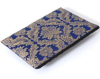 SALE! MacBook 15 Pro Cover Case Sleeve Padded, Bag Royal Blue Silver Ornaments Fabric